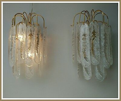 A complete set of 2 high quality large chrome & glass Kinkeldey sconces