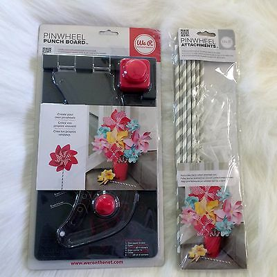 We R Memory Keepers Pinwheel Punch Board, plus Pinwheel Attachments, Holiday Fun
