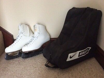 ladies ice skating boots size 7 white