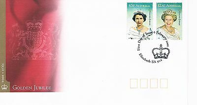 Australian Decimal Stamp First Day Cover (FDC) - Golden Jubilee - 2002