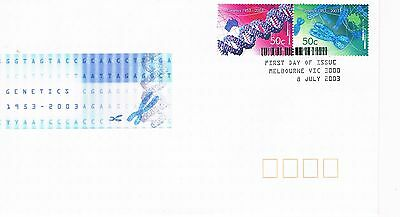 Australian Decimal Stamp First Day Cover (FDC) - Genetics - 2003