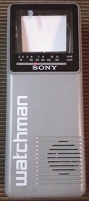 Sony Watchman FD-10A Flat black and white portable television TV vintage JAPAN