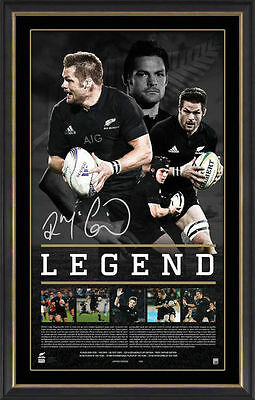 Richie Mccaw Signed & Framed New Zealand All Blacks Retirement Legend Print