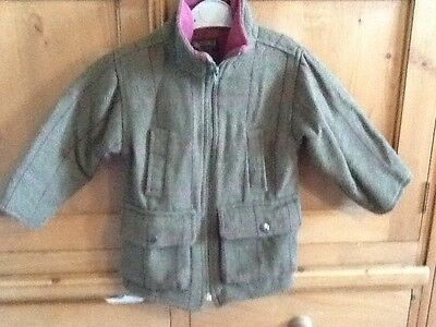 quilted girls tweed jacket size s (3-4 years)