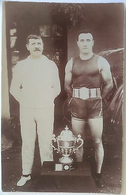 BOXING POSTCARD, PHOTOGRAPHIC, Early 20th Century, Excellent Condition