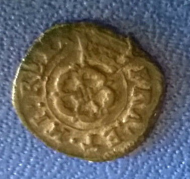 17Th Century Rose Farthing Coin Nice Example Good Patina