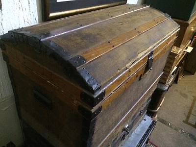 victorian/edwardian domed top trunk