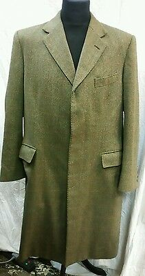 Mens Graham Browne Tweed Overcoat Size XL Approx