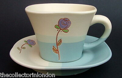 Unusual Queens China Stoneware The Luxury Pattern Tea Cups & Saucers Look in VGC
