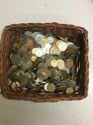 4 Kg Of Unsorted Foreign Coins Europe & Worldwide
