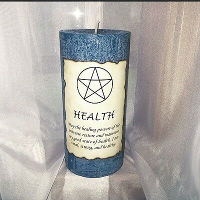 Pagan Wiccan Witchcraft Health Manifestation Candle