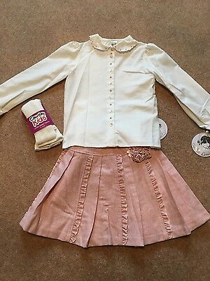 Girl's Sarah Louise baby pink skirt and blouse outfit age 5 NEW