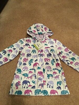 Girl's Hatley elephants raincoat age 7 NEW