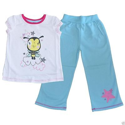 Chad Valley Girls Bee T-Shirt & Joggers 2 Piece Outfit Set Age 3-4 Years  NEW