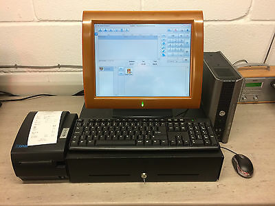 """Aures OLC-15 Complete 15"""" Touch Screen Epos System Printer Drawer POS Shop Café"""