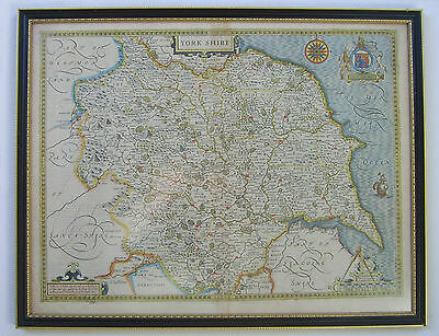 Yorkshire: antique map by John Speed, 1627