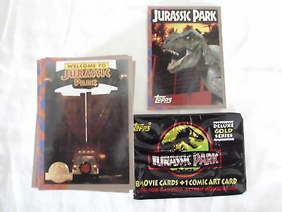 Jurassic Park Gold1993 Topps(1-88 common) art cards and promo
