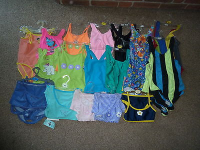 Job Lot 26 x Girls Swimming Costumes and Tankinis Mixture of Colours and Sizes
