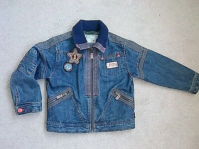 Designer oilily girls boys childs Denim Jacket Size 128 age 7-8 years