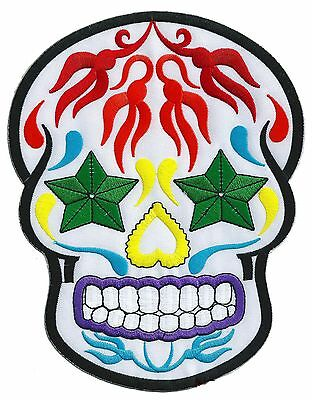 Patche dorsal écusson brodé dos grande taille MEXICAN SKULL patch