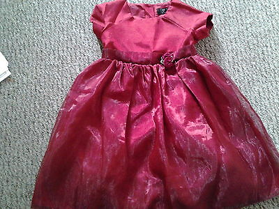 Girls gorgeous winter red party dress age 18 to 24 months