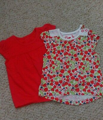 Girls Up To 3 Months T-Shirts Tu Excellent Condition