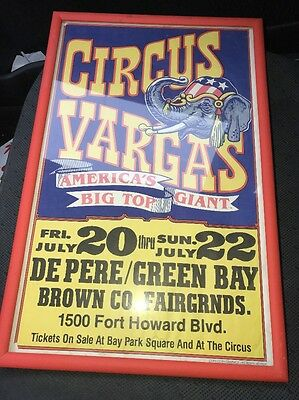Circus Vargas America's Big Top Mall Green Bay Poster Framed