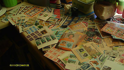 LARGE stamp collection blocks and mostly commonwealth sheets good cv