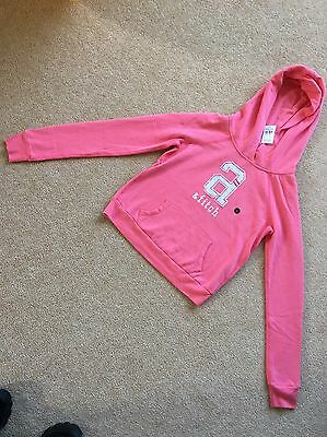 Abercrombie And Fitch Pink Hoodie Size 'girls Large' Brand New
