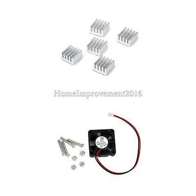 2Pin 5V Plastic Cooling Fan Alum Heat Sink Fin Suitable for Raspberry Pi 2