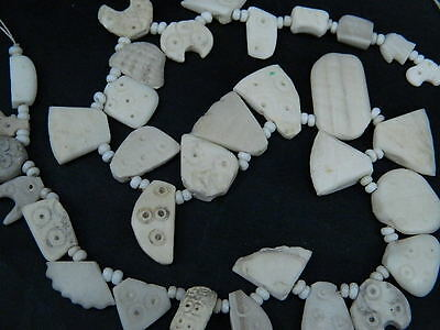 Ancient Shell/Bone Beads Strand Roman 200 BC     #BE433