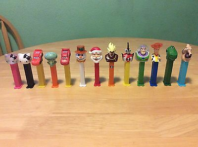 Pez Dispensers Lot Of x13 Cars,Toy story, Xmas, Ice Age, Ben 10, Hello Kitty