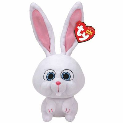 Snowball Bunny Beanie Baby 8 inch The Secret Life of Pets Stuffed Animal by Ty
