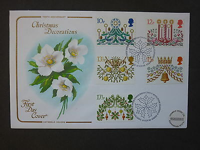 British Stamps FDC Christmas Decorations