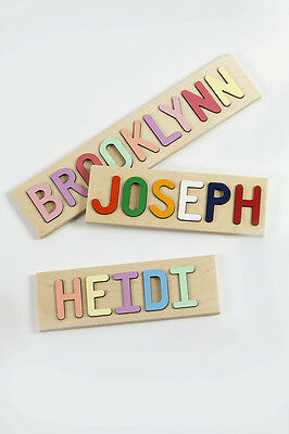 Personalized Kids Name Puzzle, Wooden Puzzle - Up to 9 Characters