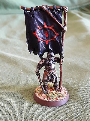 Warhammer GW LOTR Lord of the Rings Orc Mordor Standard Bearer painted metal