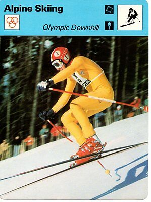 Sportscaster Rencontre Card - Alpine Skiing - Olympic Downhill