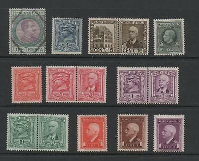 Italy Old Collection of Fiscal/Revenue Stamps.