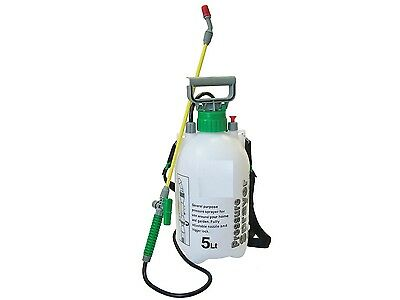 5L Litre Pressure Sprayer Manual Garden Spray Knapsack Kill Weeds Chemicals