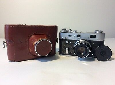 Fed 3 Camera with Lens  и-61   2,8/53 From USSR WITH ORIGINAL CASING