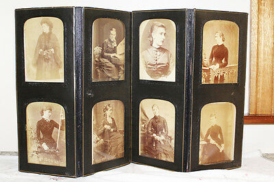 Victorian Folding Photograph Frame, W&D. Downey, Antique, Old Sepia photos,