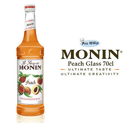 MONIN Coffee Cocktail Syrups - 70cl Glass PEACH Syrup - USED BY COSTA COFFEE