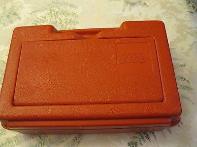 Vintage Small ReD  LEGO  Storage Case (1985) carrying travel legos organize