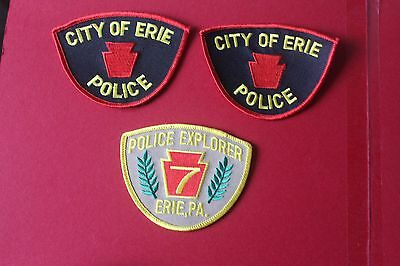 3 Shoulder patches from Erie Police Department Pennsylvania