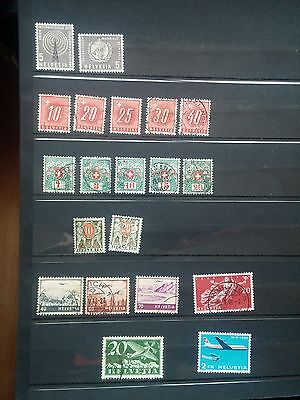 G949. Suisse. Helvetia. Lot Timbres Obliteres