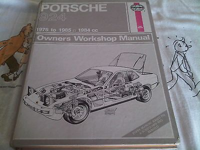 Porsche 924 1976 to 1985 Haynes Owners Workshop Manual inc Lux Turbo Carrera GT