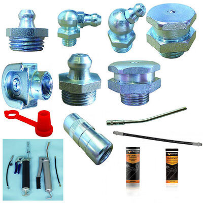Grease Nipple, Connectors (Flexible), Cover, Grease Guns, Lithium, White Grease