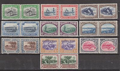 S W A 1927 SET TO 5s MOUNTED MINT