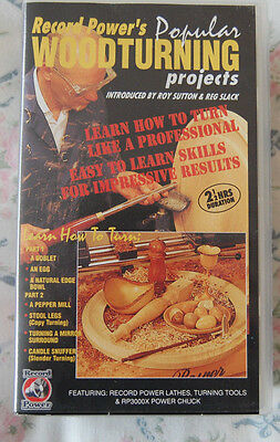 Rare Record Power's Popular Woodturning Projects VHS Video Twin Cassette Set