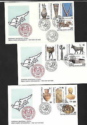 Cyprus 1983 New Currency 3 FDC #